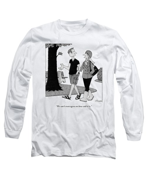 Couple Taking Walk Long Sleeve T-Shirt