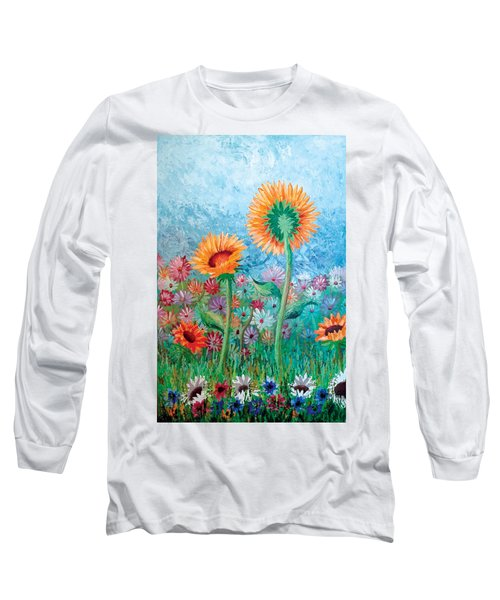Courting Sunflowers Long Sleeve T-Shirt