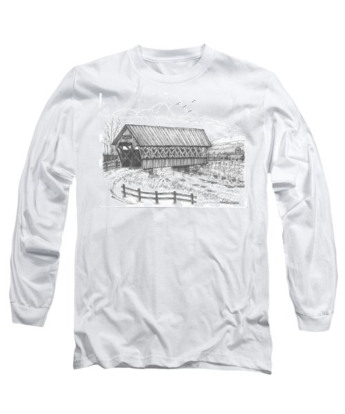 Covered Bridge Coventry Vermont Long Sleeve T-Shirt
