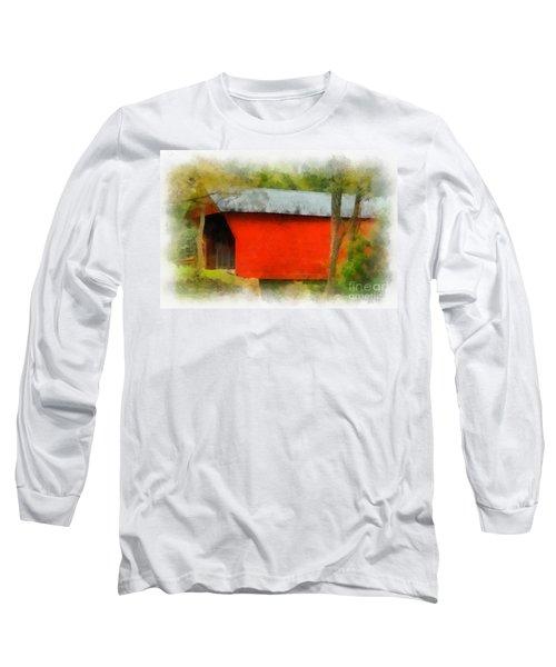 Covered Bridge - Sinking Creek Long Sleeve T-Shirt
