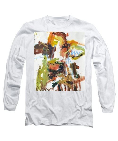 Cow With Green And Brown Long Sleeve T-Shirt