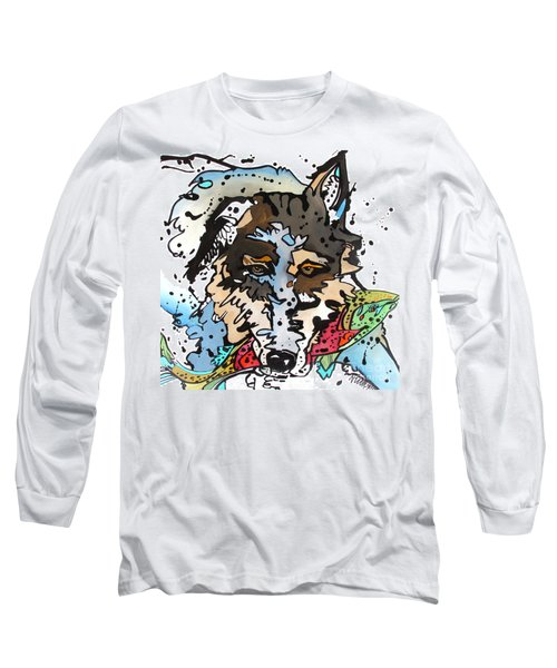 Long Sleeve T-Shirt featuring the painting Coyote  by Nicole Gaitan