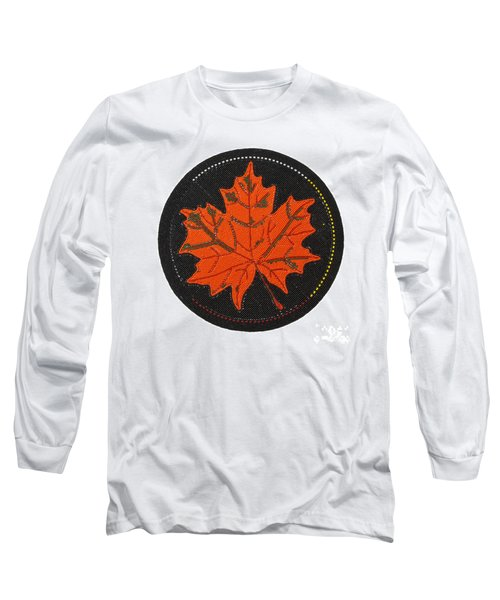 Cradleboard Beadwork Fall Maple Leaf Long Sleeve T-Shirt