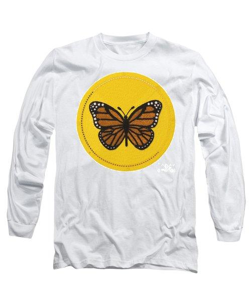 Cradleboard Beadwork Spring Butterfly Long Sleeve T-Shirt