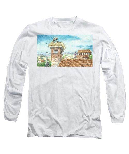 Cranes In Croatia Long Sleeve T-Shirt