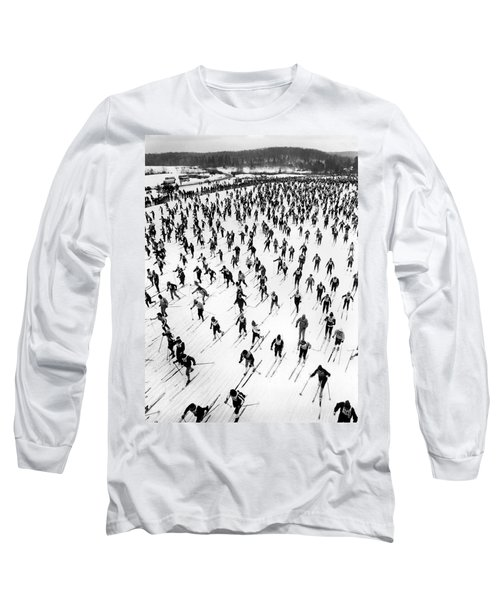 Cross Country Ski Race Long Sleeve T-Shirt