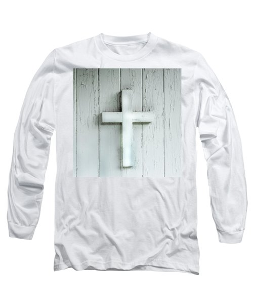 Cross On Holy Angels Sugar Island Michigan Long Sleeve T-Shirt