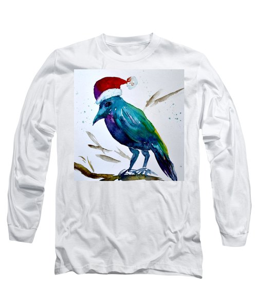 Crow Ho Ho Long Sleeve T-Shirt by Beverley Harper Tinsley