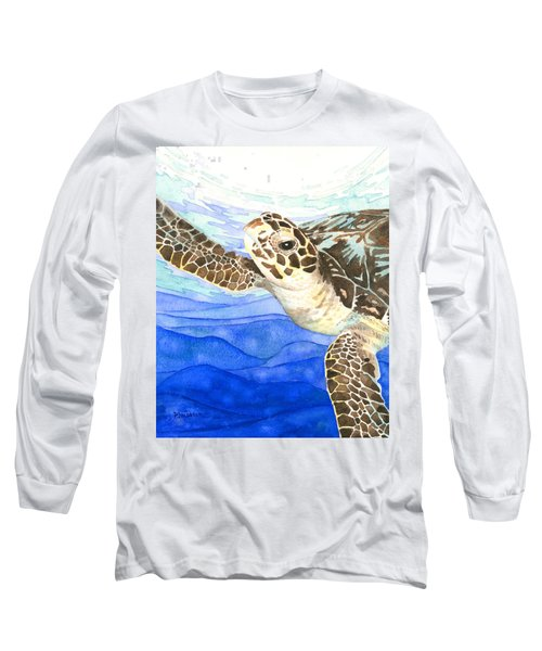 Curious Sea Turtle Long Sleeve T-Shirt