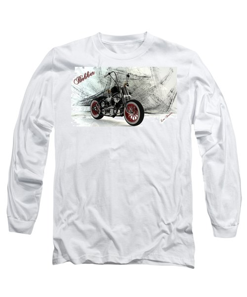 Custom Bobber Long Sleeve T-Shirt by Louis Ferreira