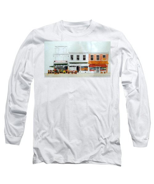 Cutrona's Market On King St. Long Sleeve T-Shirt by William Renzulli