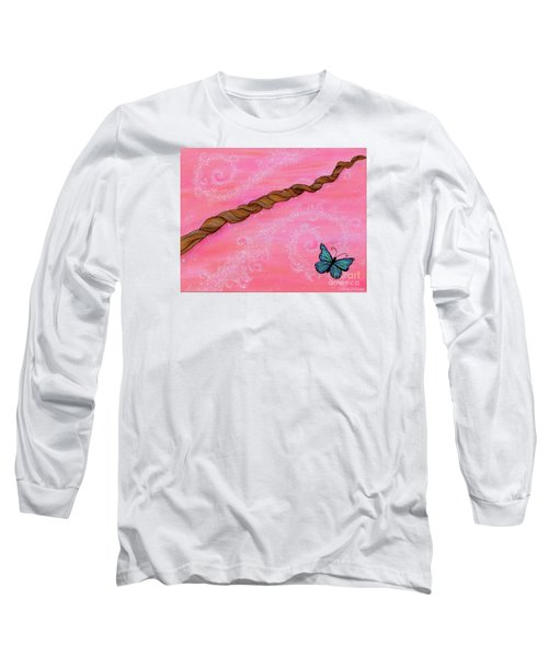 Long Sleeve T-Shirt featuring the painting Cypress Wand by Deborha Kerr