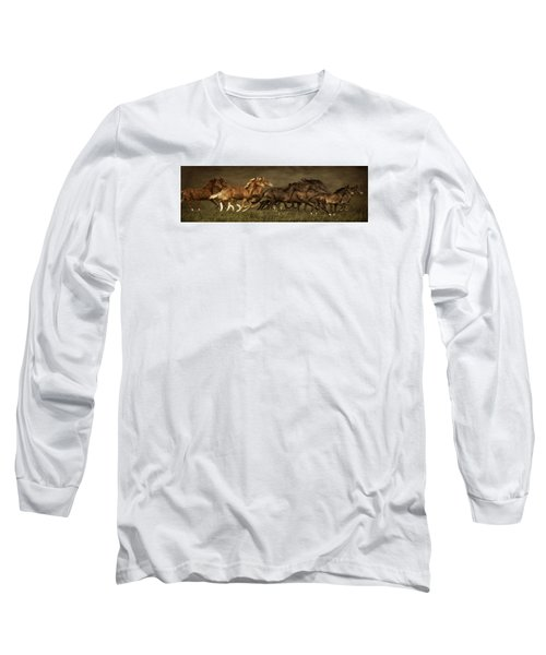 Long Sleeve T-Shirt featuring the digital art Daily Double by Priscilla Burgers