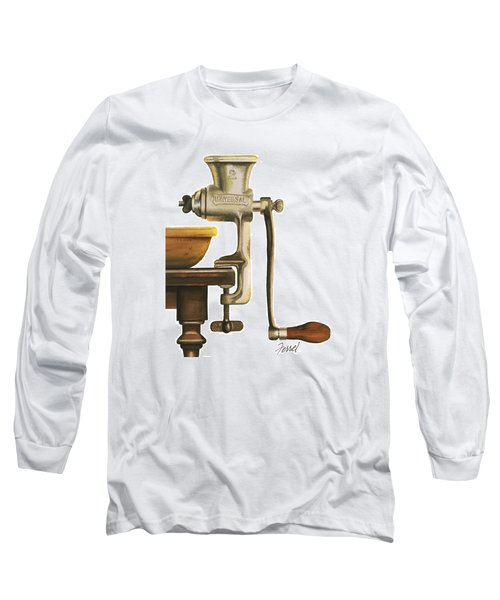 Long Sleeve T-Shirt featuring the painting Daily Grind by Ferrel Cordle