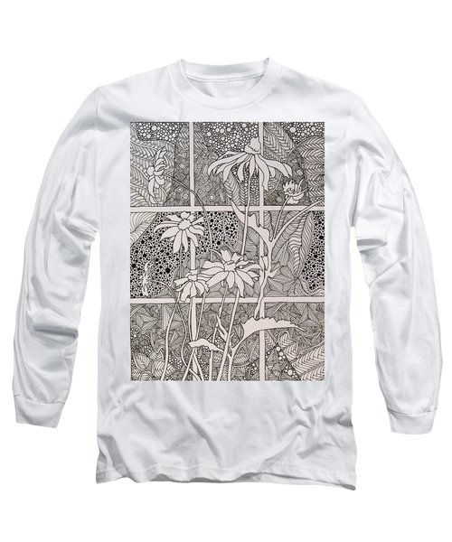 Daisies In A Window Long Sleeve T-Shirt