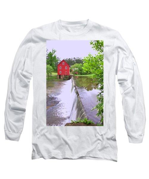 Dam At Starrs Mill Long Sleeve T-Shirt