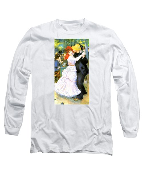 Dance At Bougival Long Sleeve T-Shirt by Pierre Auguste Renoir
