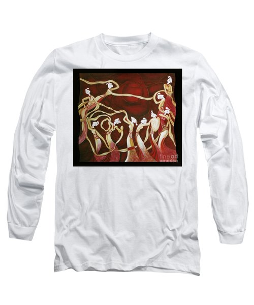 Dance With The Wind Long Sleeve T-Shirt by Fei A