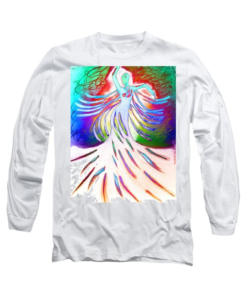Long Sleeve T-Shirt featuring the painting Dancer 4 by Anita Lewis