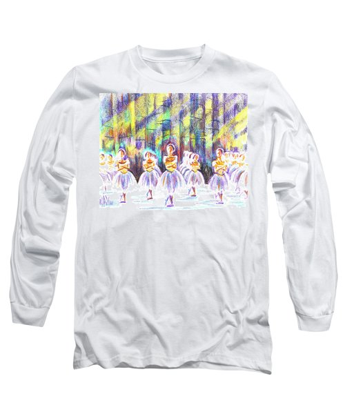 Dancers In The Forest Long Sleeve T-Shirt by Kip DeVore