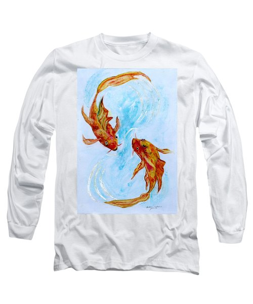 Dancing Koi Sold Long Sleeve T-Shirt by Antonia Citrino