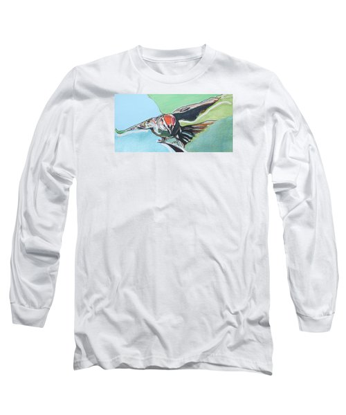 Dancing Sparrow Long Sleeve T-Shirt by Jamie Downs