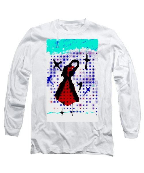 Long Sleeve T-Shirt featuring the photograph Dancing With The Birds by Jessica Shelton