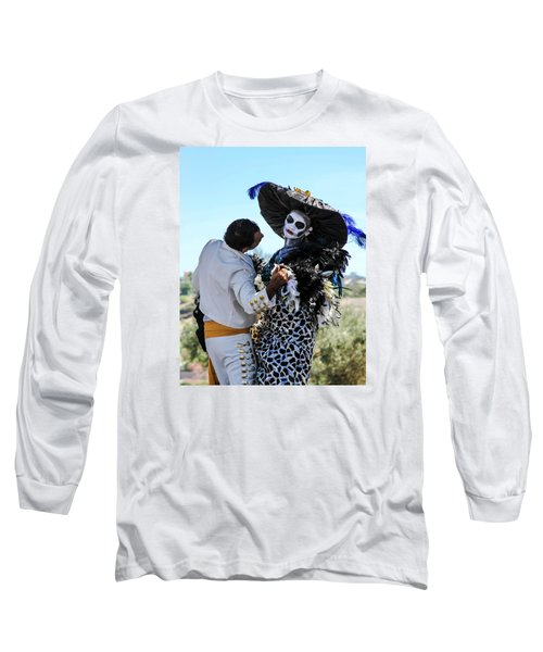 Dancing With The Death Long Sleeve T-Shirt by Menachem Ganon