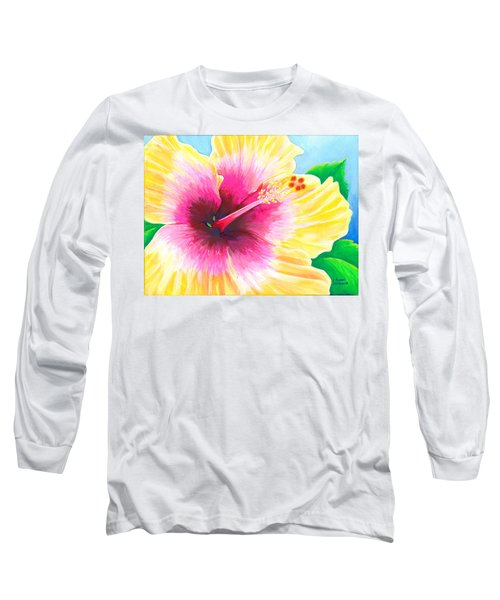 Dan's Hibiscus Long Sleeve T-Shirt
