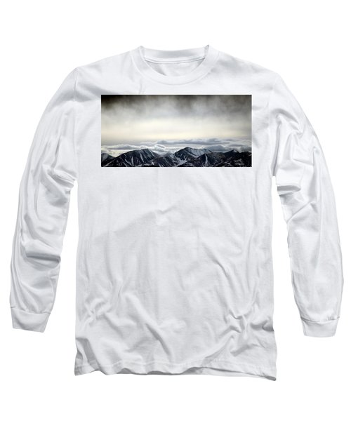 Long Sleeve T-Shirt featuring the photograph Dark Storm Cloud Mist  by Barbara Chichester