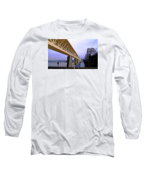 Darnitsky Bridge Long Sleeve T-Shirt by Oleg Zavarzin