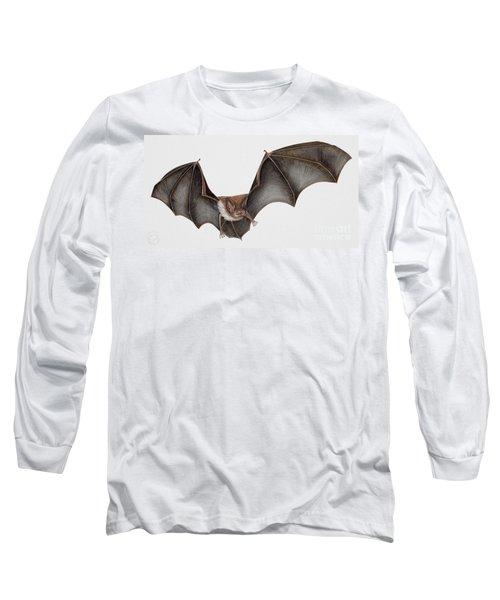 Daubentons Bat Myotis Daubentonii - Murin De Daubenton-murcielago Ribereno-vespertilio Di Daubenton Long Sleeve T-Shirt
