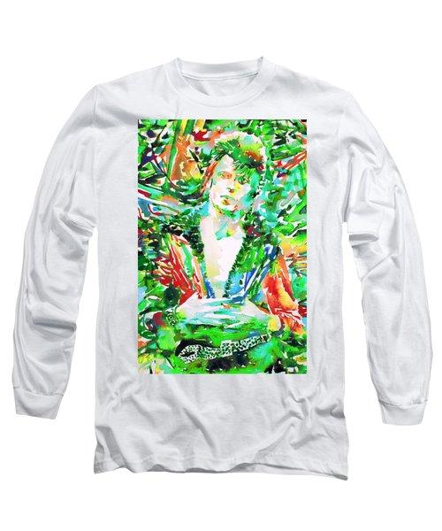 David Bowie Watercolor Portrait.2 Long Sleeve T-Shirt