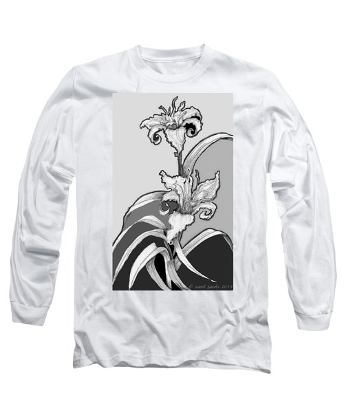 Long Sleeve T-Shirt featuring the digital art Day Lillies by Carol Jacobs