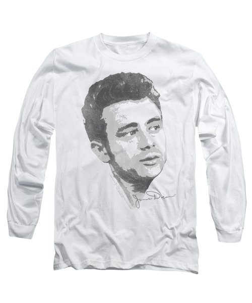 Dean - Vintage Face Long Sleeve T-Shirt by Brand A