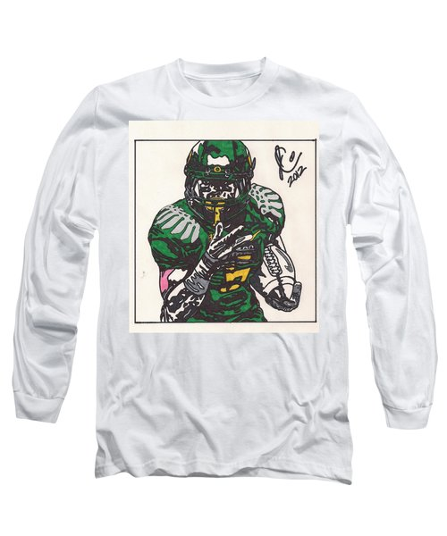 De'anthony Thomas Long Sleeve T-Shirt by Jeremiah Colley