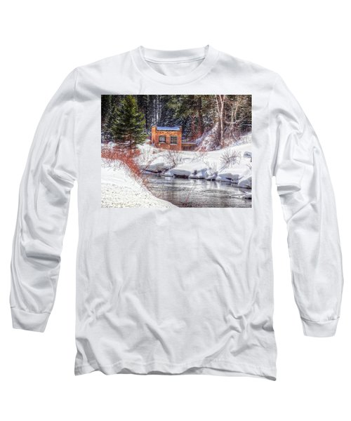 Long Sleeve T-Shirt featuring the photograph Deep Snow In Spearfish Canyon by Lanita Williams