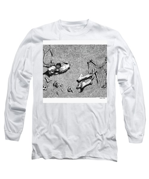 Deer Bones Long Sleeve T-Shirt by Daniel Reed