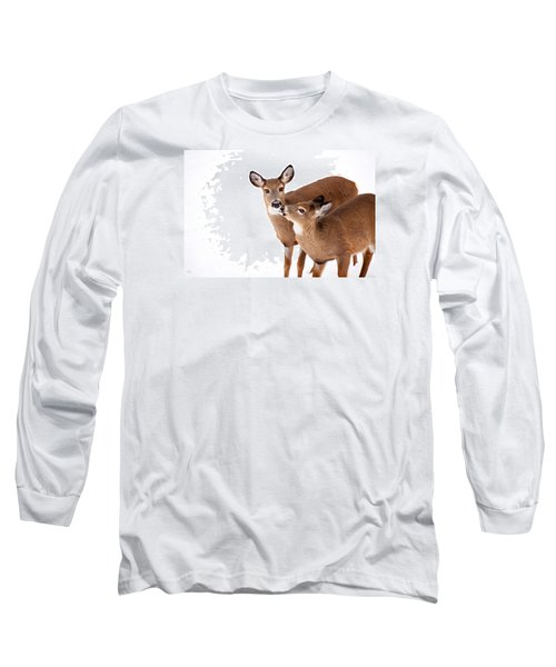 Deer Kisses Long Sleeve T-Shirt by Karol Livote