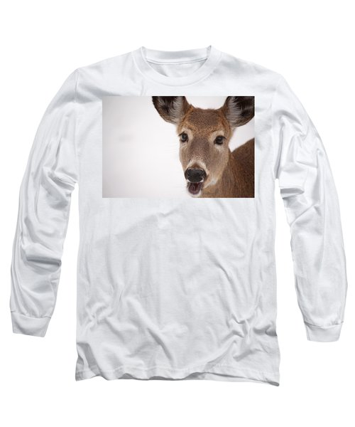 Deer Talk Long Sleeve T-Shirt by Karol Livote