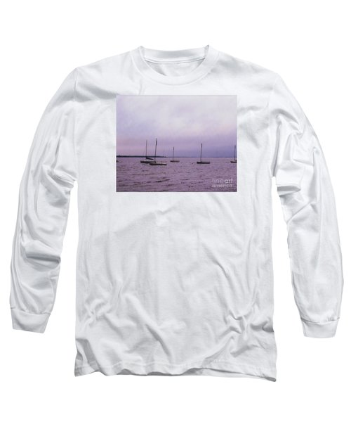 Delaware Harbor Long Sleeve T-Shirt by David Jackson