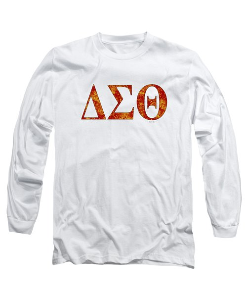 Long Sleeve T-Shirt featuring the digital art Delta Sigma Theta - White by Stephen Younts