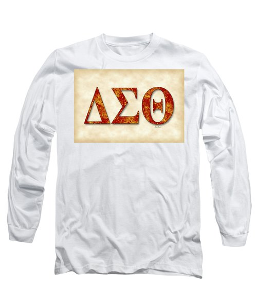 Delta Sigma Theta - Parchment Long Sleeve T-Shirt by Stephen Younts