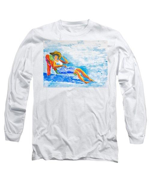 Dena At The Beach Long Sleeve T-Shirt