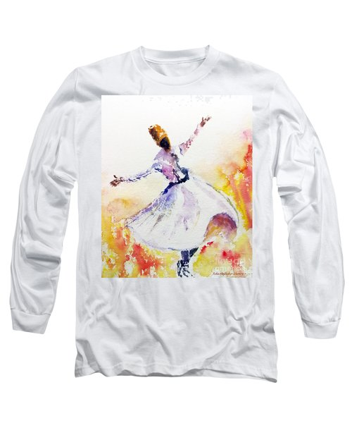 Whirling Sufi Dervish Long Sleeve T-Shirt