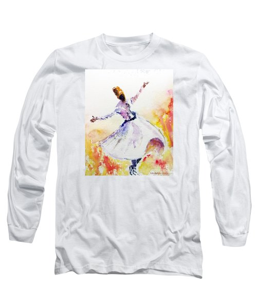 Sufi  Or Dervish Dancer Long Sleeve T-Shirt