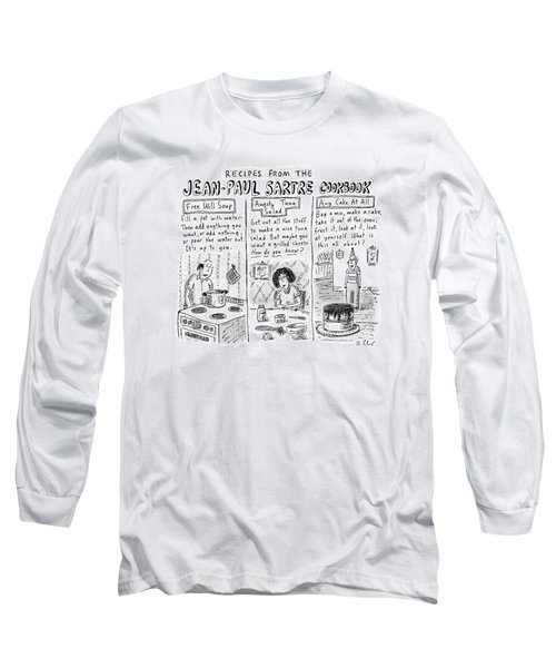 Descriptions Of Jean-paul Sartre Cookbook Recipes Long Sleeve T-Shirt