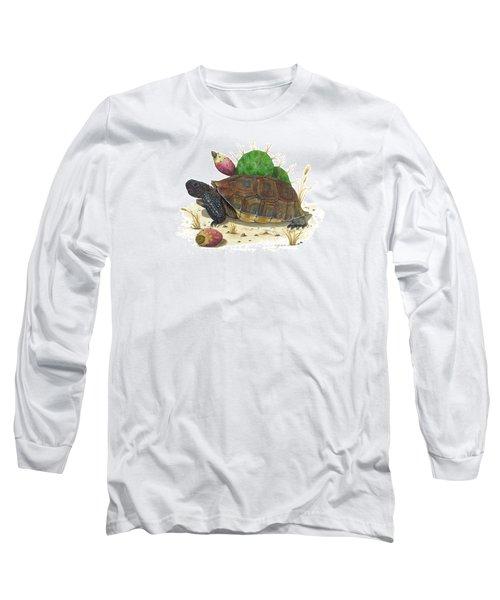 Desert Tortoise Long Sleeve T-Shirt by Cindy Hitchcock