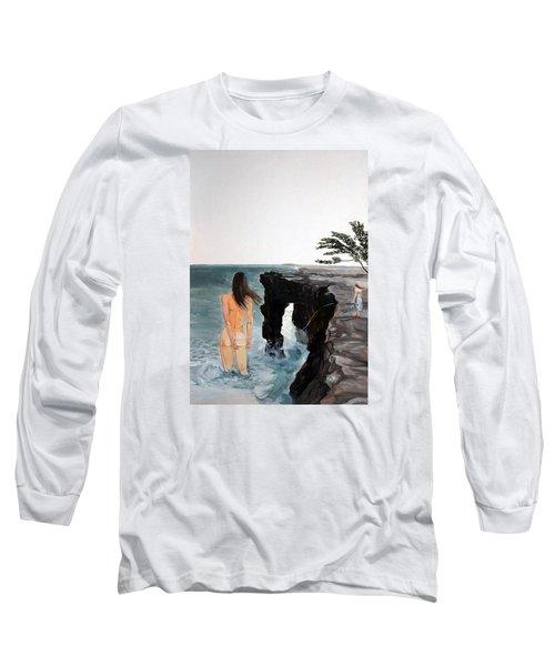 Destinos Long Sleeve T-Shirt by Lazaro Hurtado