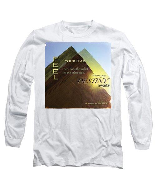 Your Destiny Waits Long Sleeve T-Shirt by Mark David Gerson